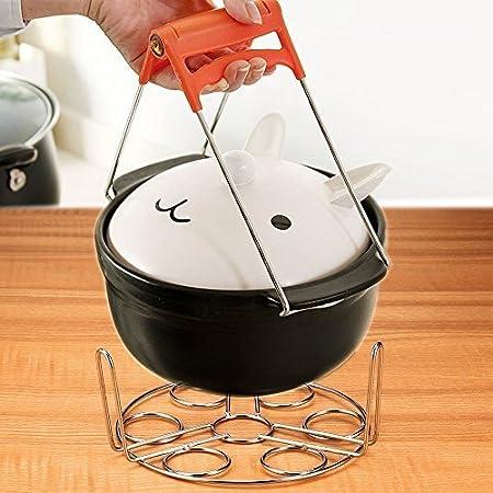 Soporte para huevos apilable, accesorio esencial de acero inoxidable para ollas instantáneas, ollas a presión y otras ollas para contener huevos y verduras ...