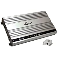Lanzar Amplifier Monoblock Car Audio – Mono Amplifier, 6,000 Watt, 1 Ohm, MOSFET, Gold Plated RCA Input, Low Pass Filter, Subsonic Filter, Remote Bass Control, Amplifier for Car Speakers, Car Electronics – OPTI6000D