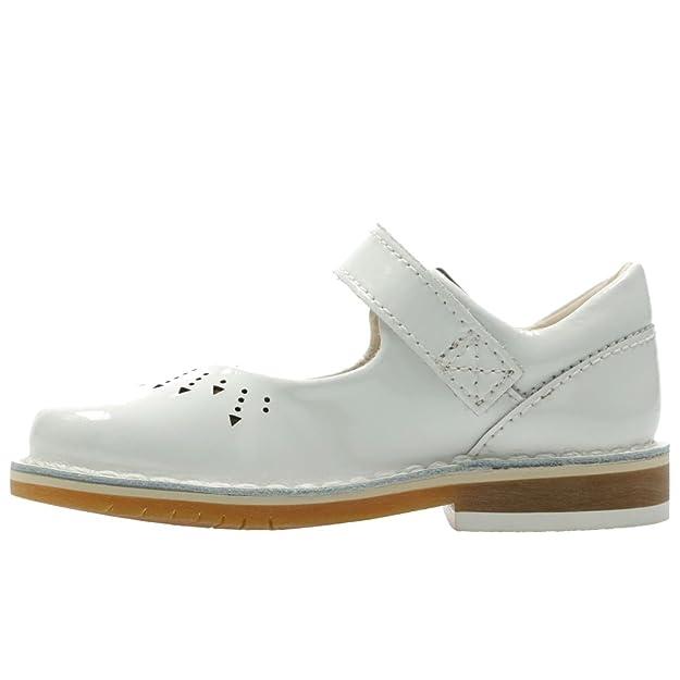 Clarks Yarn de Jump Ville 18 Lacets Chaussures Fille à Pour Blanc R4w1aq