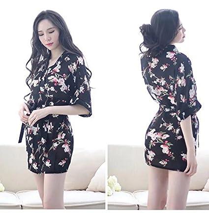 CWJ Lencería Sex Sex Pijamas Transparentes Batas de Gasa Kimono Uniformes Faldas de Mujer Extremamente Atractivo