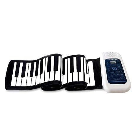 Piano portátil Flexible Engrosado 88 teclas Roll-Up Electrónica Bluetooth Música digital Teclado de piano