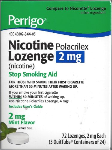- Perrigo Nicotine Polacrilex Lozenge 2mg ~ MINT flavored ~ 72ct *Compare to Nicorette*
