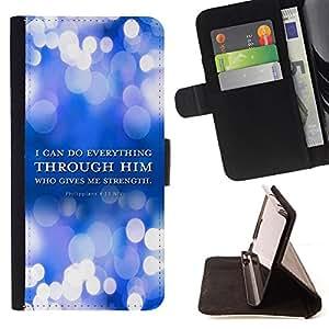 KingStore / Leather Etui en cuir / Apple Iphone 5C / BIBLIA Filipenses 4:13 Todo lo puedo