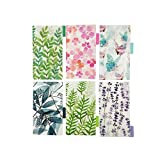 Plastic Binder Index Dividers, 18-Tab(Forest Series,3 Sets, Each 6-tab), Assorted Designs, Match for Standard A6 Size 6-Ring Planners