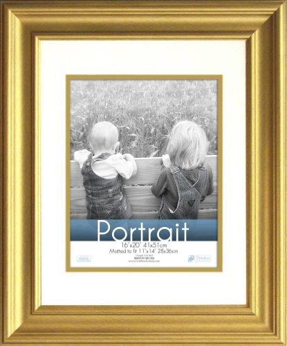Timeless Frames 16x20 Inch Fits 11x14 Inch Photo Lauren Portrait Wall Frame, Gold