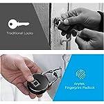 XZYP-Lucchetto-per-Impronte-Digitali-Serratura-per-Impronte-Digitali-Smart-Lucchetto-Biometrico-per-Palestra-Armadietto-Porta-Esterna-Zaino-Valigia-per-Valigie-Bici-Ufficio-Ip65-Impermeabile
