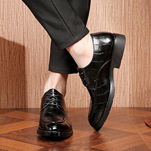 Black de Travail Travail Britanniques pour Chaussures Hommes Coréens Chaussures Chaussures Hommes pour de DHFUD Hommes pour Rétro aY0SBgfw1
