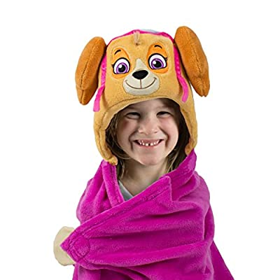 Comfy Critters Stuffed Animal Plush Blanket – PAW Patrol Skye – Kids Wearable Pillow and Blanket Perfect for Pretend Play, Travel, nap time.: Home & Kitchen