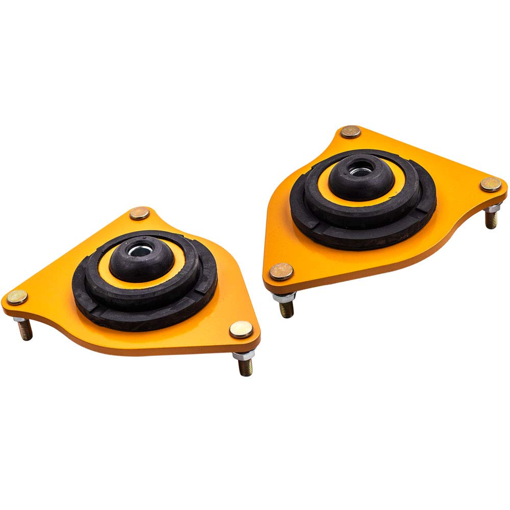 maXpeedingrods Adjustable Camber Plates Coilover Pillow Ball Kits for Mini Cooper 2001-2006 Top Mounts