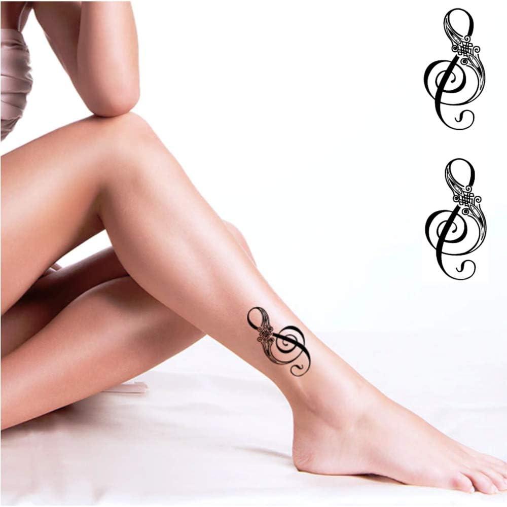 Tatuajes temporales clave de suelo, notas musicales, antebrazo ...