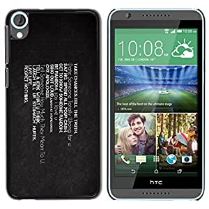 Planetar® ( Take Chances Live Life Regret Nothing ) HTC Desire 820 Fundas Cover Cubre Hard Case Cover
