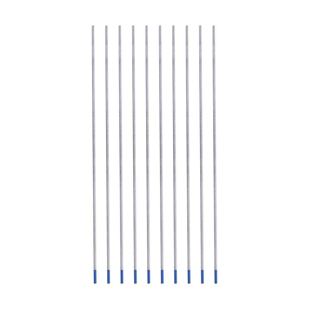 10pcs /électrodes de soudage au tungst/ène Pointe bleue d/électrode lanthanne /Électrodes de tungst/ène Lanthane 1.6 * 175mm Accessoires de soudage