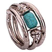 YAZILIND Jewelry Vintage Twisted Rimous Arm Bangle Bracelet para Mujeres vintage
