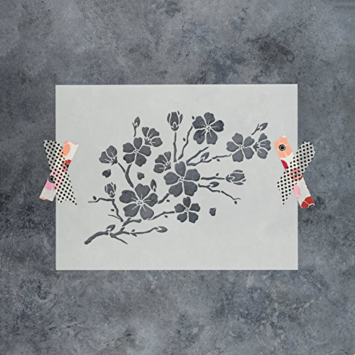 Cherry Laser Paper - Cherry Blossom Stencil Template - Reusable Stencil with Multiple Sizes Available