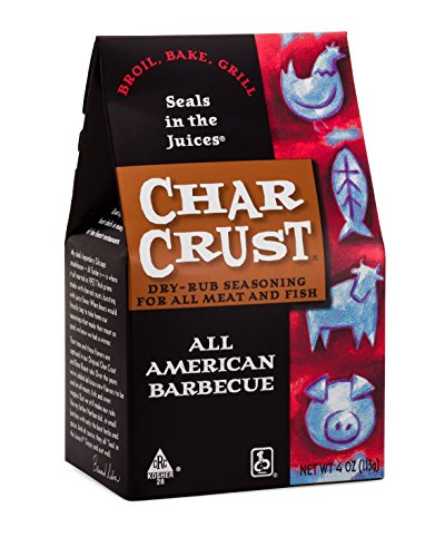 Char Crust Dry-Rub Seasoning, All American BBQ, 4-Ounce (Pack of 6)