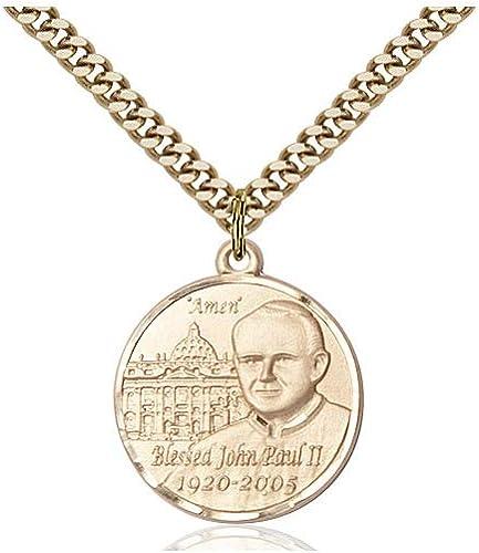 DiamondJewelryNY 14kt Gold Filled Pope Pius X Pendant
