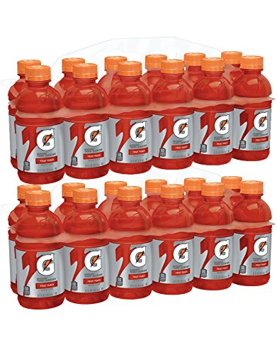 Red Fruit Punch - Gatorade Thirst Quencher, Fruit Punch, 12 Ounce Bottles (Pack of 24)