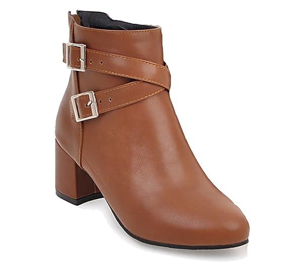 HiTime Damen Chelsea Boots, Beige - Beige - Größe: 35.5