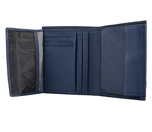 bugatti Sempre Monedero piel 10 cm Blue Azul
