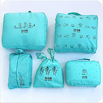 7a9ee91a4f5c Amazon.com : Saasiiyo 5Pcs/Set Cute animal Zipper Portable Travel ...