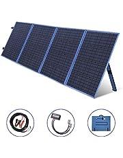 SARONIC 200 watt zonnepaneel, opvouwbaar zonnepaneel, 12 V, monokristallijne oplader met laadregelaar voor campers, caravans, motorhome-rally's, mobiel officesysteem 12 V (blauw)