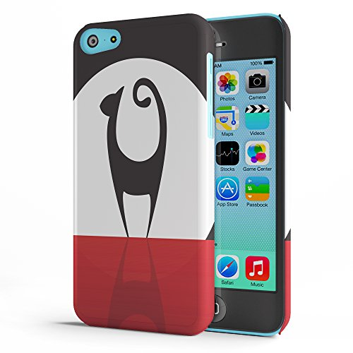 Koveru Back Cover Case for Apple iPhone 5C - Mew Cat in the full moon
