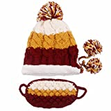 Winter Warm Knitted Ski Cap Outdoor Beanies Earmuffs Warm Ear Hat with Mask