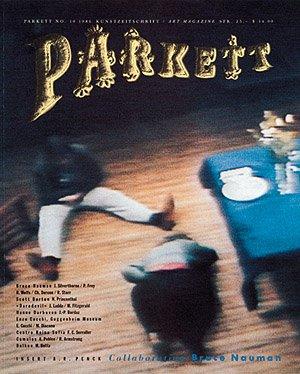 collaboration bruce nauman parkett art magazine no 10 1986