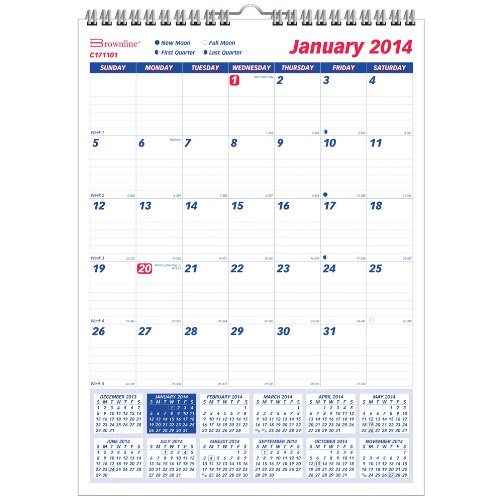 Brownline 2014 Monthly Wall Calendar, 8 x 11 Inches (C171101) by Brownline (Image #1)