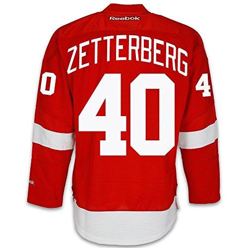 Henrik Zetterberg: Reebok Red #40 Detroit Red Wings Premier Youth L/XL Jersey