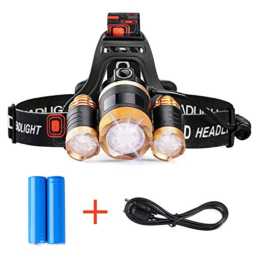 STCT Street Cat Brightest LED Rechargeable Headlamp, 5000...