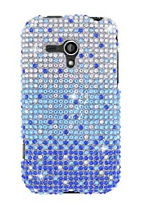 Full Diamond Graphic Case for Samsung Galaxy Rush - Blue/Silver Waterfall (Package include a HandHelditems Sketch Stylus Pen)