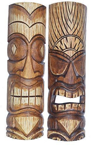 Interlifestyle 2 Tiki Máscaras 50cm Im Maui Estilo Set de ...