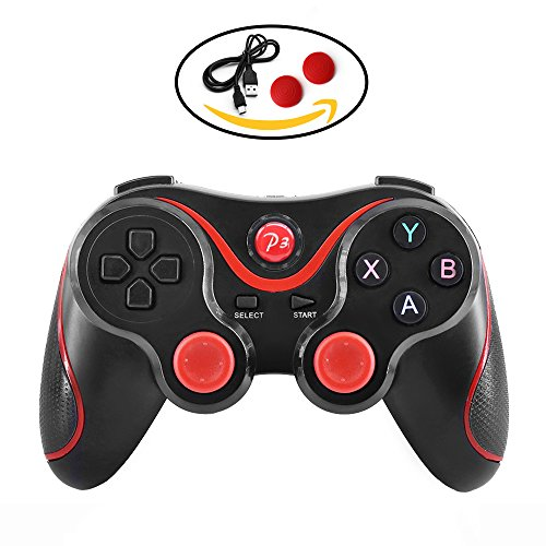 PS3 controller Wireless Bluetooth Double Shock Sixaxis Remote Gamepad for Sony PS3 PlayStation (Red)