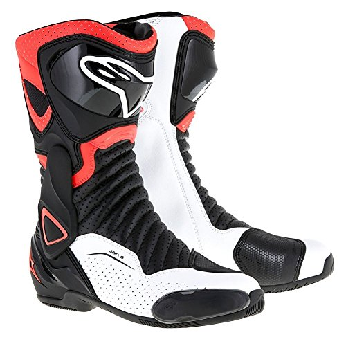- Alpinestars SMX-6 v2 Vented Boots (43) (BLACK/RED/WHITE)