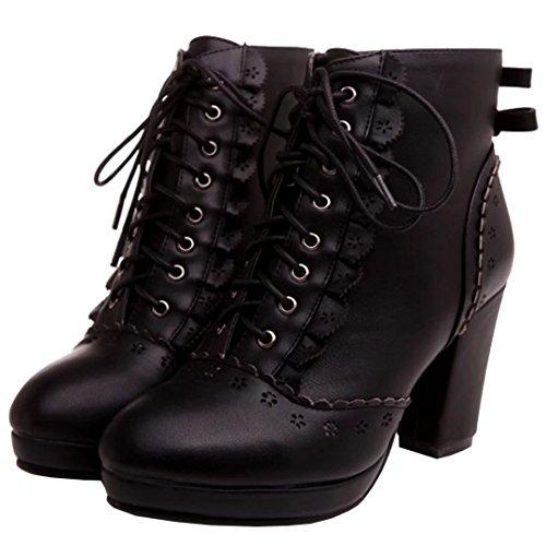 Schwarz Boot AIYOUMEI Damen AIYOUMEI Classic Schwarz Classic Damen Boot vvPO1qEzn