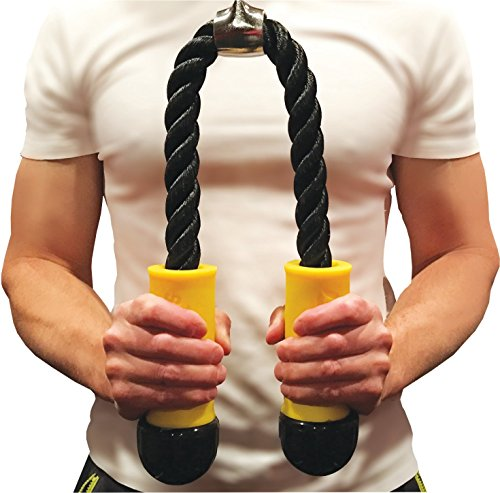 Fit Grip Tricep Rope for Thick Fat Bar Training - Bicep, Wrist & Forearm
