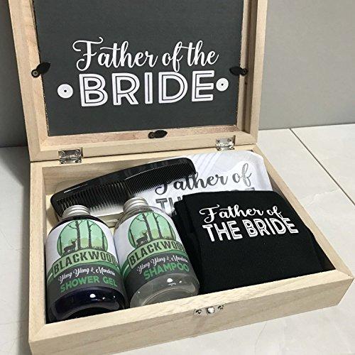 con tascabile Hanky set pettine padre wedding della Morning calzini in regalo legno sposa zecche scatola shampoo riempito Il regalo docciaschiuma 4BFpSnqx