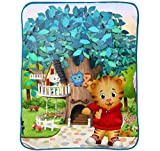 PBS Kids Daniel Tiger Treehouse Pals Plush 50 x 60 Throw