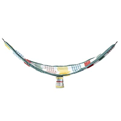 Sun Squad Variegated Stripe 2-Person Hammock Includes Straps Multi Stripe Multi Color Hammock Outdoor Family : Garden & Outdoor