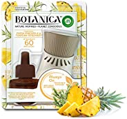 Air Wick Botanica, Scented Oil Kit, fragrance fresh Pineapple & Tunisian Rosemary 1 Warming Device + 1 re
