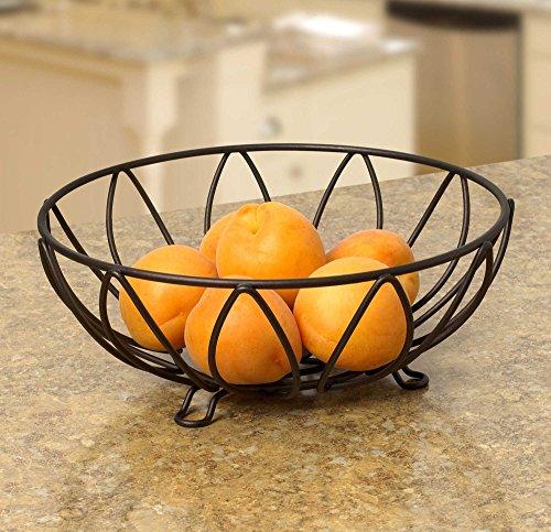 Amazon.com | Spectrum Diversified Leaf Fruit Bowl, Black: Mixing Bowls: Bowls