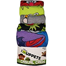 The Muppets 5 Pair Casual Crew Socks,Multicoloured,10-13