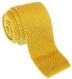 Retreez Vintage Smart Casual Men's 2'' Skinny Knit Tie - Gold