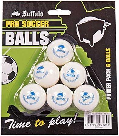 Buffalo. nl Pro Set/6 Pelotas – Mesa de futbolín, Unisex Adulto, 19013_8717931934244, Weiß, Medium: Amazon.es: Deportes y aire libre