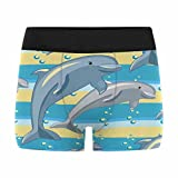 InterestPrint Custom Men's Boxer Briefs Fun The Dolphin Couple S