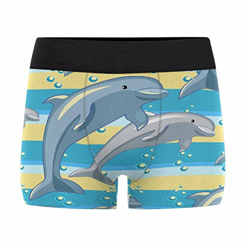 InterestPrint Custom Men's Boxer Briefs Fun The Dolphin Couple S by InterestPrint