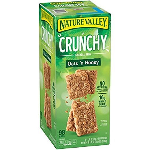 (Nature Valley Oats 'n Honey Crunchy Granola Bars, 49 Count)