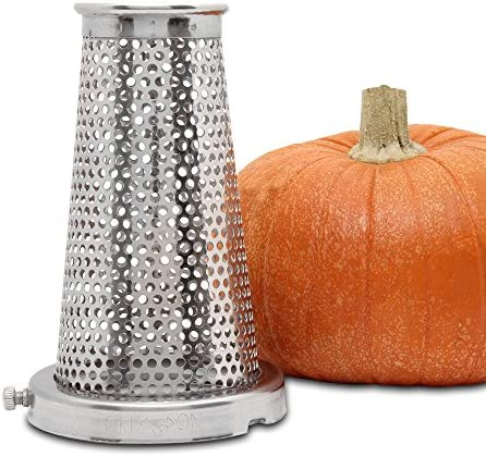 Roots & Branches VKP250-5 Strainer Screen, Berry, Pumpkin & Salsa, Grape Spiral, Silver