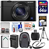 Sony Cyber-Shot DSC-RX100 IV 4K Wi-Fi Digital Camera with 64GB Card + Battery & Charger + Case + Tripod + Strap + Kit